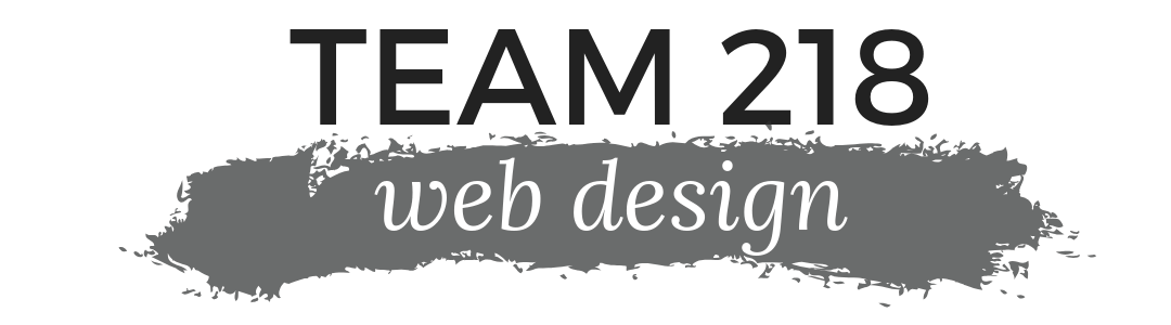 Team 218 Web Design logo